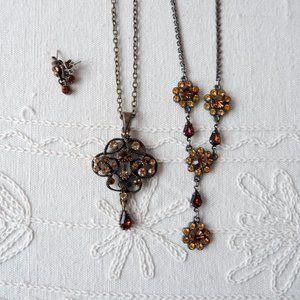 🐝Boho Amber Tone Costume Jewelry